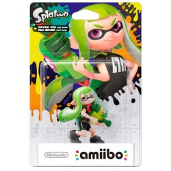 FIGURA AMIIBO INKLING GIRL LIME GREEN (SERIE SPLATOON)
